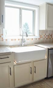 how to install an apron sink in an existing cabinet kitchen progress installing the farmhouse sink