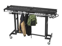 table heavenly versare portable folding steel coat rack industrial