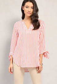 popover blouse striped self tie popover blouse shop and now at papaya clothing