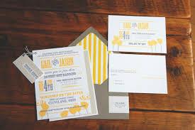 Wedding Invitations Ottawa Gail Jason U0027s Modern Yellow Gray Wedding Invitations