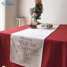 Christmas Plaid Table Runner by Online Get Cheap Xmas Table Linen Aliexpress Com Alibaba Group