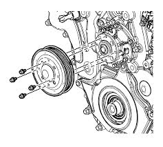 repair instructions off vehicle water pump removal 2009 gmc