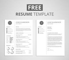 resume template free free resume template and cover letter graphicadi