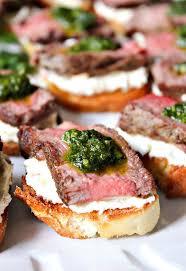 beef tenderloin crostini appetizers pinterest beef