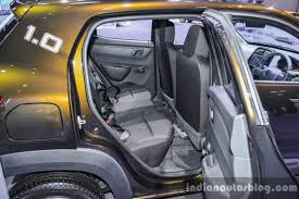 renault kwid interior seat renault kwid 1 0 rear seats at the auto expo 2016 indian autos blog