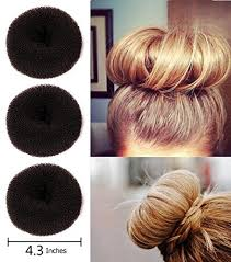 donut bun hair fireboomoon 3pcs large size hair donut bun ring styler maker