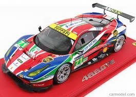 ferrari coupe models bbr models p18137 scale 1 18 ferrari 488 gte 3 9l turbo v8 team af