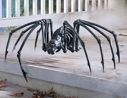 Decorative Spiders Massive Black Skeleton Spider The Green Head