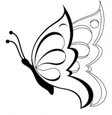 coloring page easy draw butterfly drawing drawings for kids