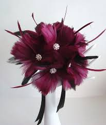 feather flower brides feather flower bouquet on luulla