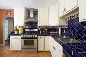 blue mediterranean kitchen style idea mediterranean style