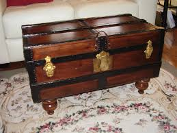 smaller antique streamer trunk coffee table antique trunks