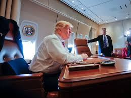 air force one interior trump was in awe of his first flight on air force one business