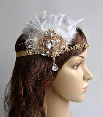 great gatsby headband gold 1920 s gatsby headpiece chamagne gold the great gatsby