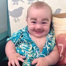 Meme Babies - funniest new meme babies with eyebrows drawn on komando com