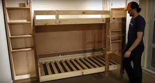 Bunk Bed Plan Murphy Bunk Beds Plans Within How To Build A Bed Diy Projects For