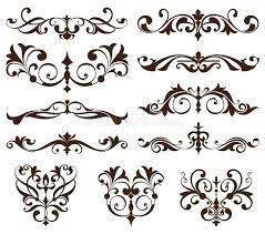 vector set vintage ornaments corners borders vintage design