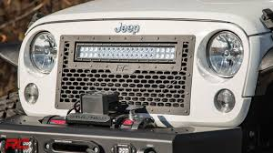 2007 2017 Jeep Wrangler Mesh Grille Kit By Rough Country Youtube