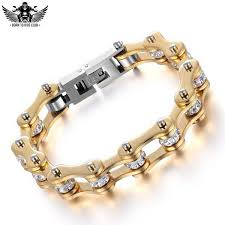 ladies gold chain bracelet images Gold lady biker chain bracelet born2rideclub jpg