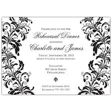 black and white invitations branches black on white rehearsal dinner invitations paperstyle