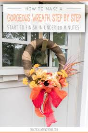 How To Make Wreaths How To Make A Simple Wreath Step By Step In Under Ten Minutes