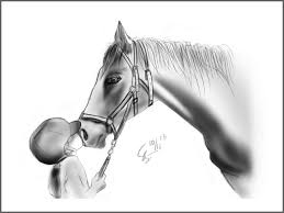 horse painting sketch by somesoularts on deviantart