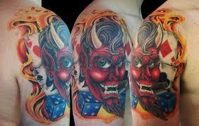 devil sleeve tattoo art and designs