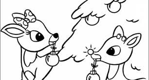 coloring pages rudolph red nosed reindeer coloring santa