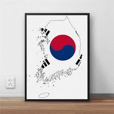 aliexpress com buy south korea flag home decoration painting