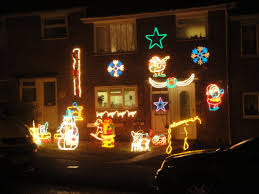 Christmas Lights On House by File Newport Furrlongs Top House Christmas Decorations 2010 Jpg