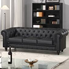 canapé capitonné design canapé chesterfield 3 places regency noir canapés chesterfield promo