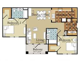 2 bedroom flat floor plan india