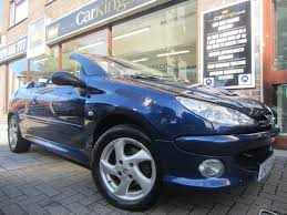 used peugeot 206 convertible for sale motors co uk