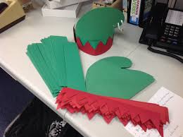 elf hat construction paper a poster board head band and one
