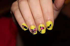 crazy about nails girly nails