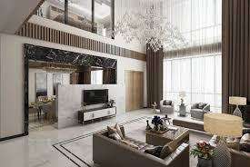 Latest Ceiling Design For Living Room by Modern Asian Luxury Interior Design