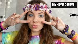 halloween hippie makeup looks diy last minute hippie costume youtube