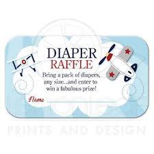 airplane baby shower aviator airplane boy baby shower raffle card