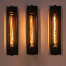 Long Wall Sconce Lighting New Industrial Long Wall Lamp Retro Wall Light Rustic Wall Sconce