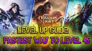 crusaders of light best class crusaders of light level up guide best way to level 45 youtube