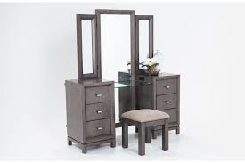 Black Vanity Table With Mirror Bedroom Vanities Bedroom Bob U0027s Discount Furniture