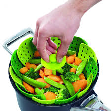 silicone cuisine folding silicone food steamer basket changing products
