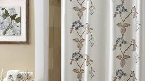 Croscill Bath Accessories by Magnolia Shower Curtain White Magnolia Pattern Polyester