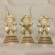 vintage ceramic choir ornaments set of 3