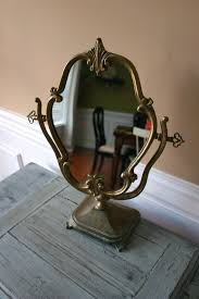 Vanity Stand Mirror Antique Vanity Mirror With Stand Makeup Ornate By Rhapsodyattic
