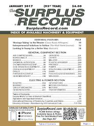 january 2017 surplus record machinery u0026 equipment directory