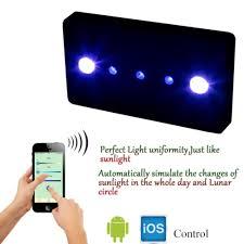 Aquarium Led Lighting Fixtures Wifi 169w Led Aquarium Light Dimmable Cob Lense Spectrum