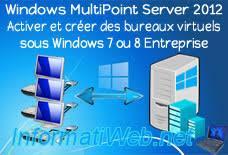 bureaux virtuels windows 7 windows multipoint server 2012 activer et créer des bureaux