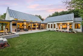 Modern Farmhouse Ranch Campanelli L Shaped Ranch Ideas Home Office Farmhouse With Wood