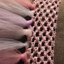crochet elastic ribbon rachael rabbit tutu tutorial part 2 no sew tutu using crochet
